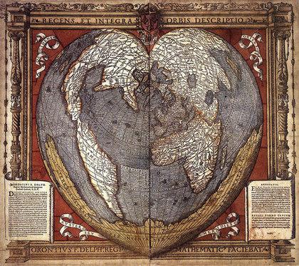 Карты Земли составлены 30 000 000 лет назад