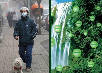 В городском воздухе опасно мало отрицательных ионов